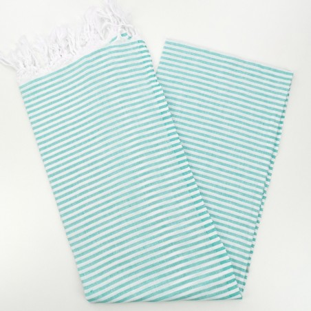Turkish pareo towel medium green