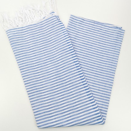 Turkish pareo towel royal blue