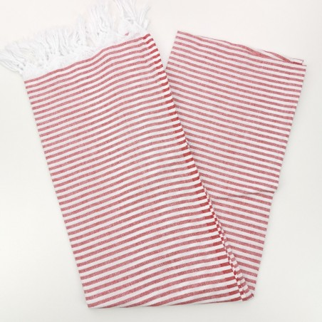 Turkish pareo towel red