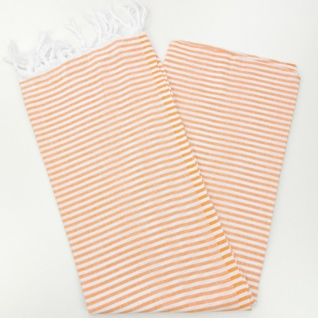 Turkish pareo towel tangerine