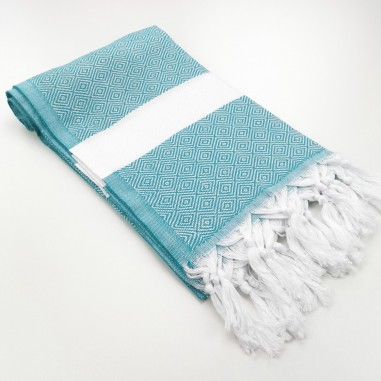 Diamond Turkish towel dark cyan