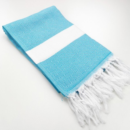 Diamond Turkish towel turquoise