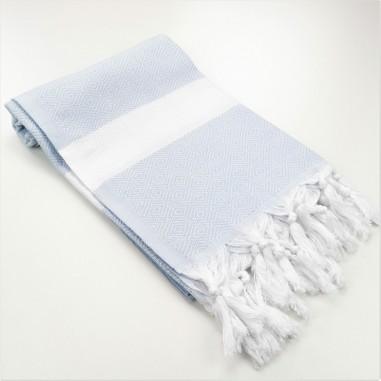 Diamond Turkish towel sky blue