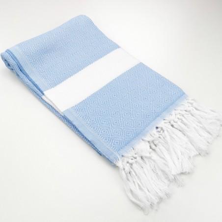 Diamond Turkish towel pastel blue
