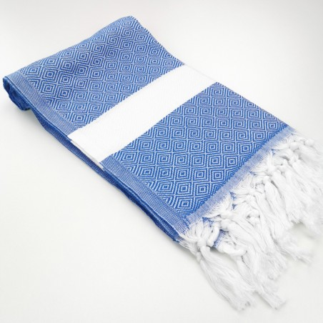 Diamond Turkish towel royal blue