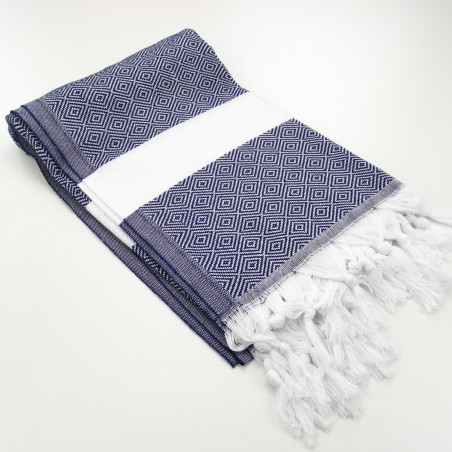 Diamond Turkish towel navy