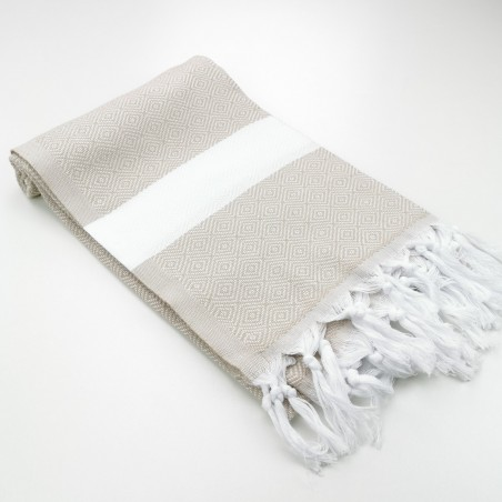 Diamond Turkish towel beige ecru