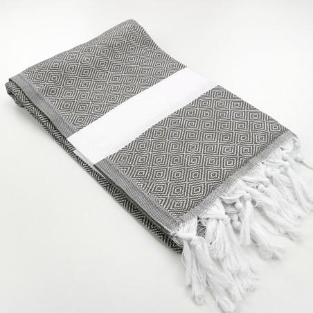 Diamond Turkish towel taupe brown