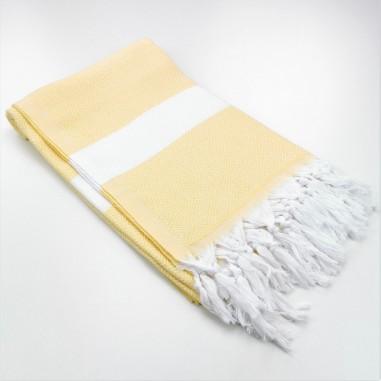 Diamond Turkish towel dawn yellow
