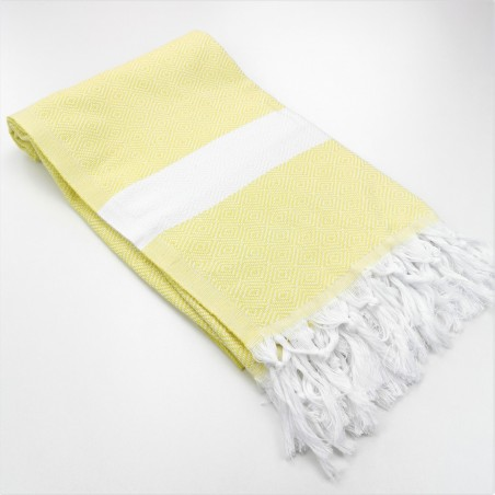 Diamond Turkish towel pastel yellow