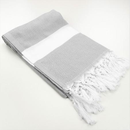 Diamond Turkish towel light grey
