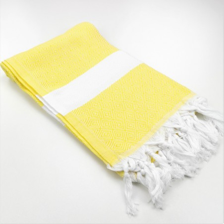 Diamond Turkish towel chick yellow