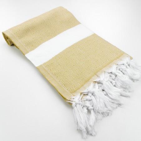 Diamond Turkish towel mustard