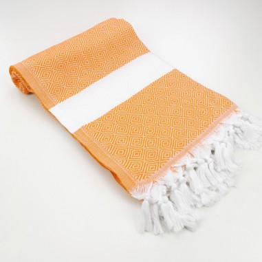 Diamond Turkish towel orange