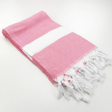 Diamond Turkish towel pink
