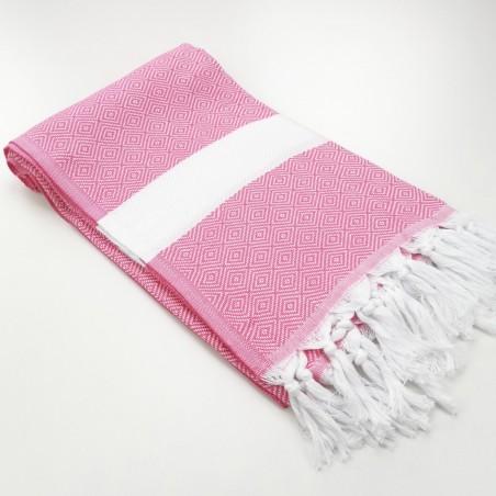 Diamond Turkish towel candy pink