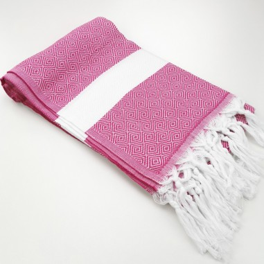 Diamond Turkish towel fuchsia