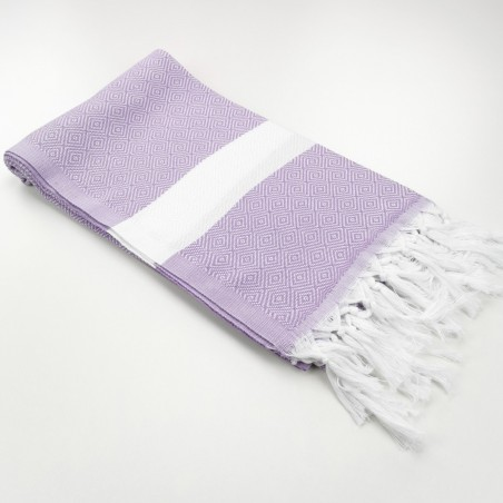 Diamond Turkish towel lilac