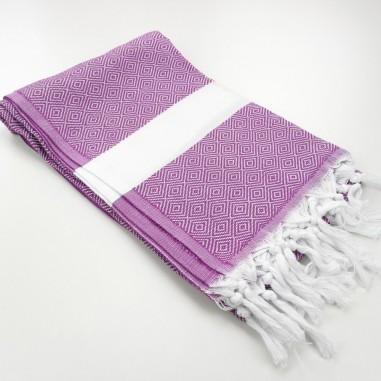 Diamond Turkish towel amethyst