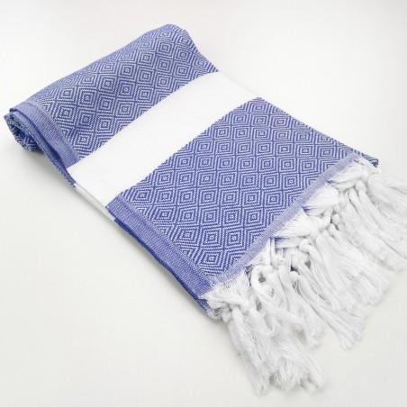 Diamond Turkish towel indigo