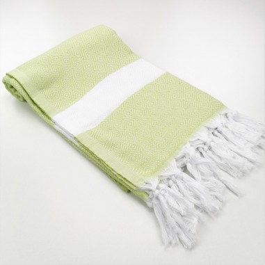 Diamond Turkish towel lime green