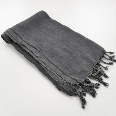stonewashed Turkish towel charcoal