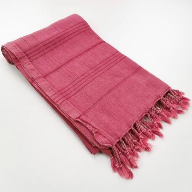stonewashed Turkish towel raspberry