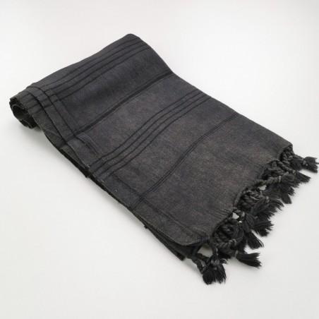 stonewashed Turkish towel black