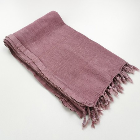 stonewashed Turkish towel pink purple
