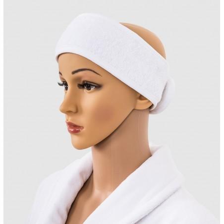 Bandeau éponge en eponge coton blanc