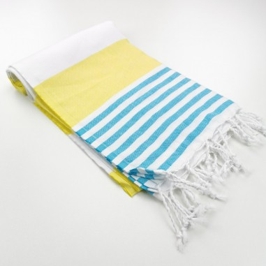 Turkish towel Pool bicolor stripes
