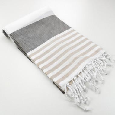 Turkish towel Pool bicolor stripes