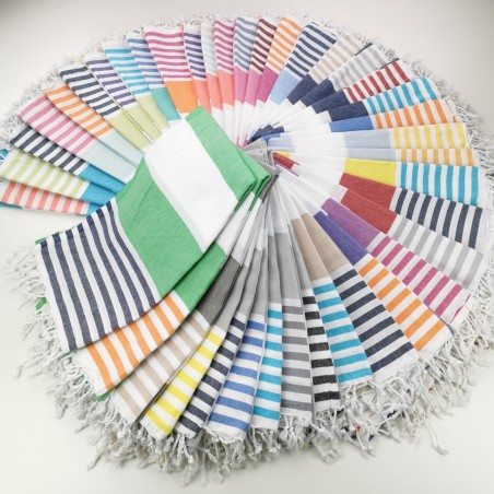 Turkish towels Pool bicolor stripes