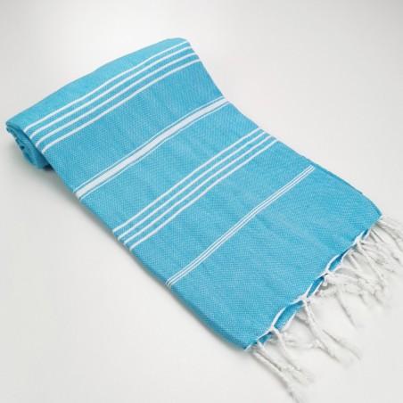 Turkish peshtemal towel turquoise
