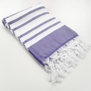 herringbone peshtamel towel indigo