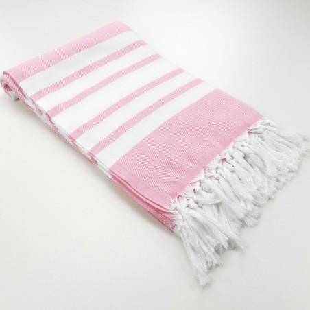 herringbone peshtamel towel dragee pink
