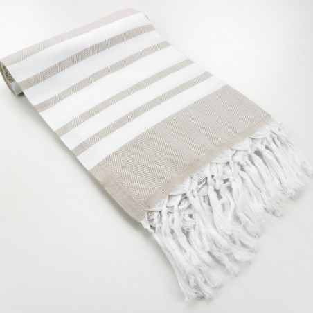 herringbone peshtamel towel beige