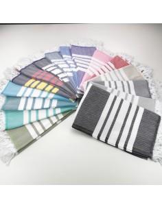 Herringbone weave Turkish pestemal towels Capri color wholesale