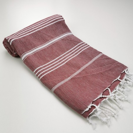 Turkish peshtemal towel burgundy