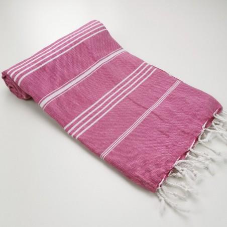 Turkish peshtemal towel fuchsia