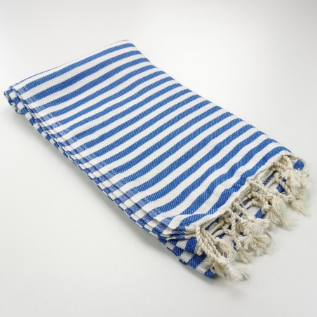 Herringbone Turkish towel royal blue