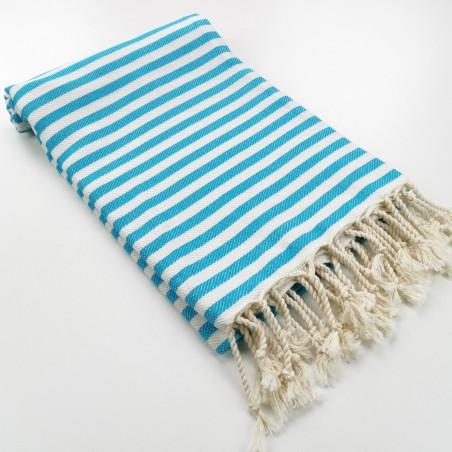 Herringbone Turkish towel turquoise