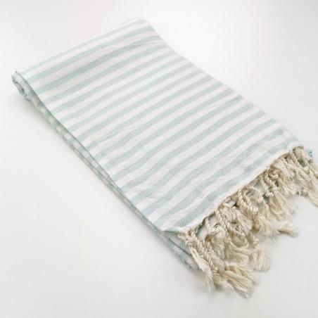 Herringbone Turkish towel pastel mint