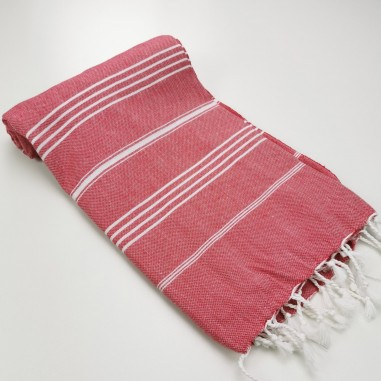 Turkish peshtemal towel cherry red