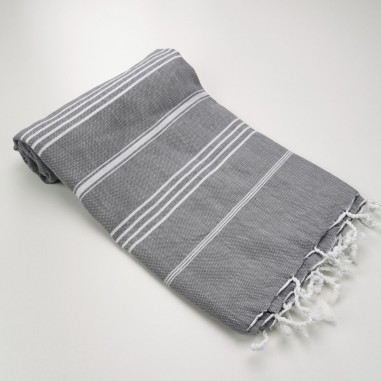 Turkish peshtemal towel dark grey