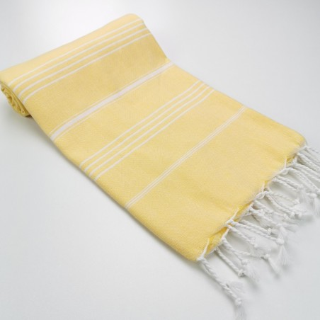 Turkish peshtemal towel dawn yellow