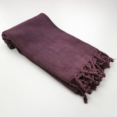 Honeycomb stonewashed towel burgundy