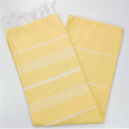 dawn yellow flat sultan peshtemal towel