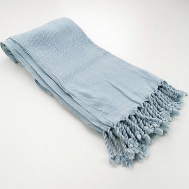 Honeycomb stonewashed towel grey blue