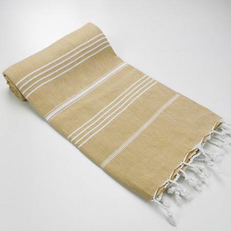 Turkish peshtemal towel mustard